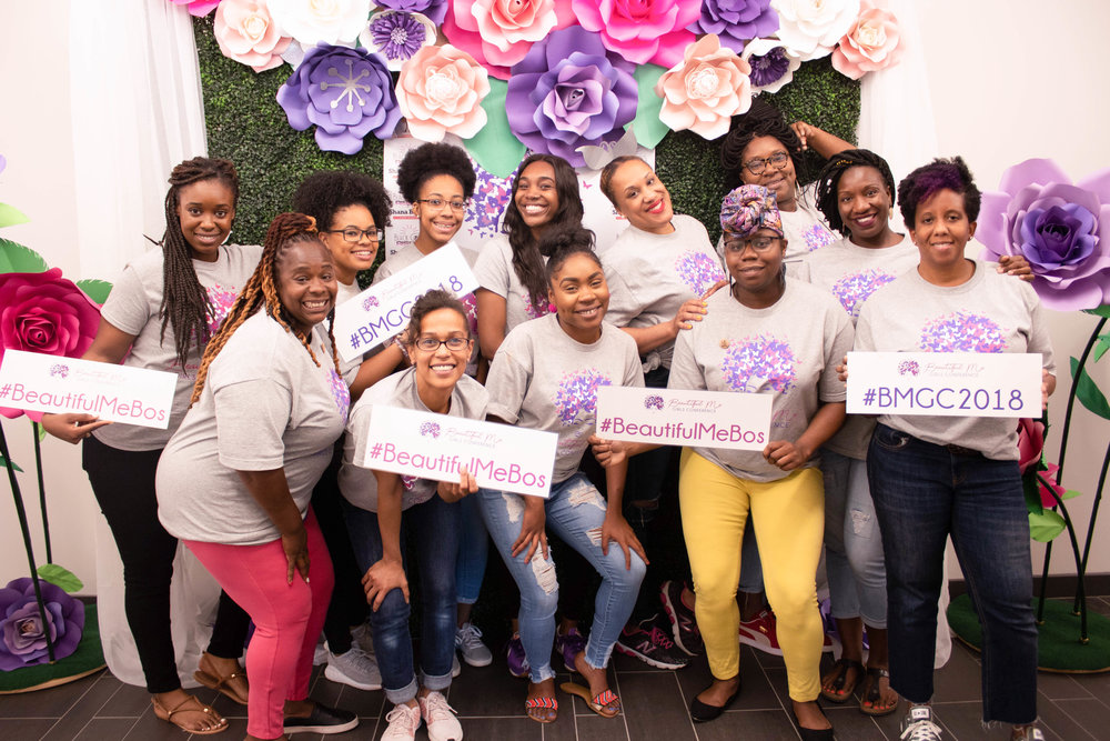 Beautiful Me Girls Conference organizers and volunteers are all smiles.