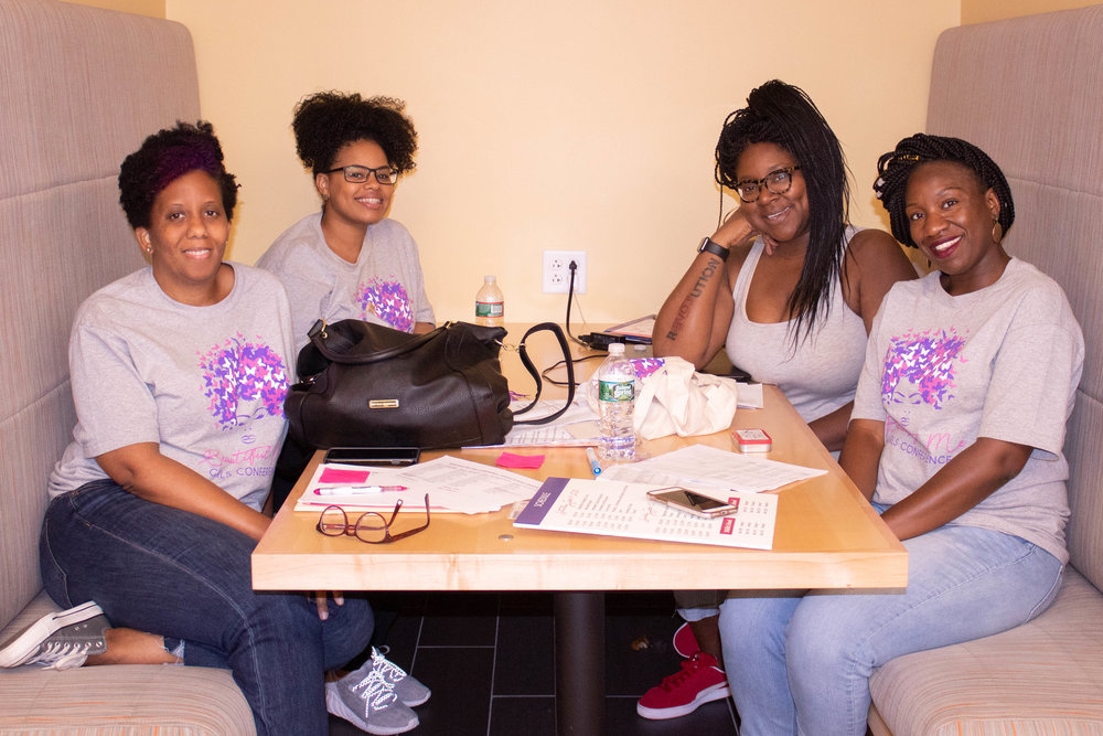 Some of the Beautiful Me Conference organizers - (from L to R): Stephanie Johnson, Ainsley Castro, Anjela Childs & Stephanie Campbell.