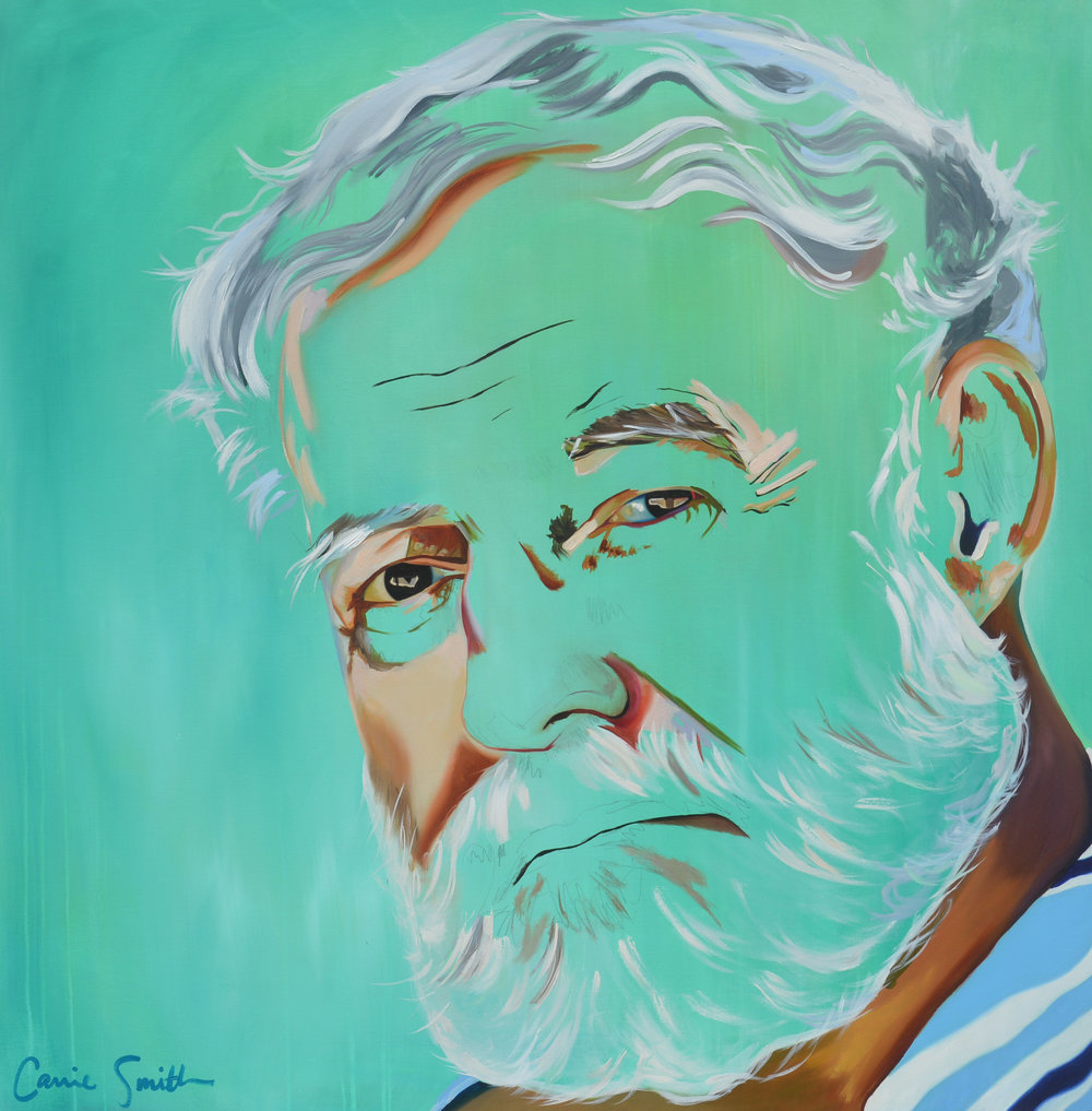 Ernest Hemingway (5ft x 4ft) by Carrie S. Kilgore.jpg