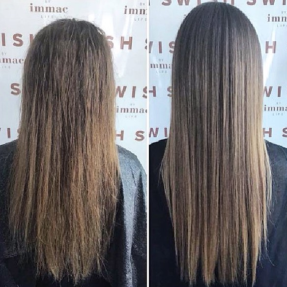 Don't forget our half price Keratin treatment is only available until the end of this month!!. • • • #amazonkeratin #sleekhair #swishabudhabi #straighthair #beforeandafter #amazingresults #blowouts #hairgoals