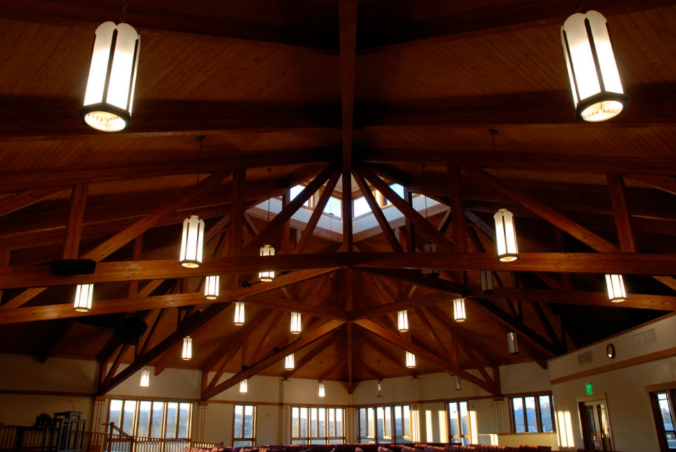 For 25 years, Lindale Mennonite Church met for worship, fellowship and study in a single mutli-purpose building. Our challenge was to design a dedicated worship facility for 450 persons with ultimate capacity for 600. Their program also called for new, expanded offices, library, and nursery spaces as well as renovating their kitchen. The resulting building celebrates craftsmanship and the beauty of natural materials. Ample windows allow the luscious valley landscape to serve as backdrop to this church's worship.