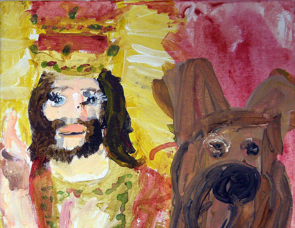 (SOLD) Jesus Christ and Scooby Doo - Acrylic on Canvas - 2017.jpg