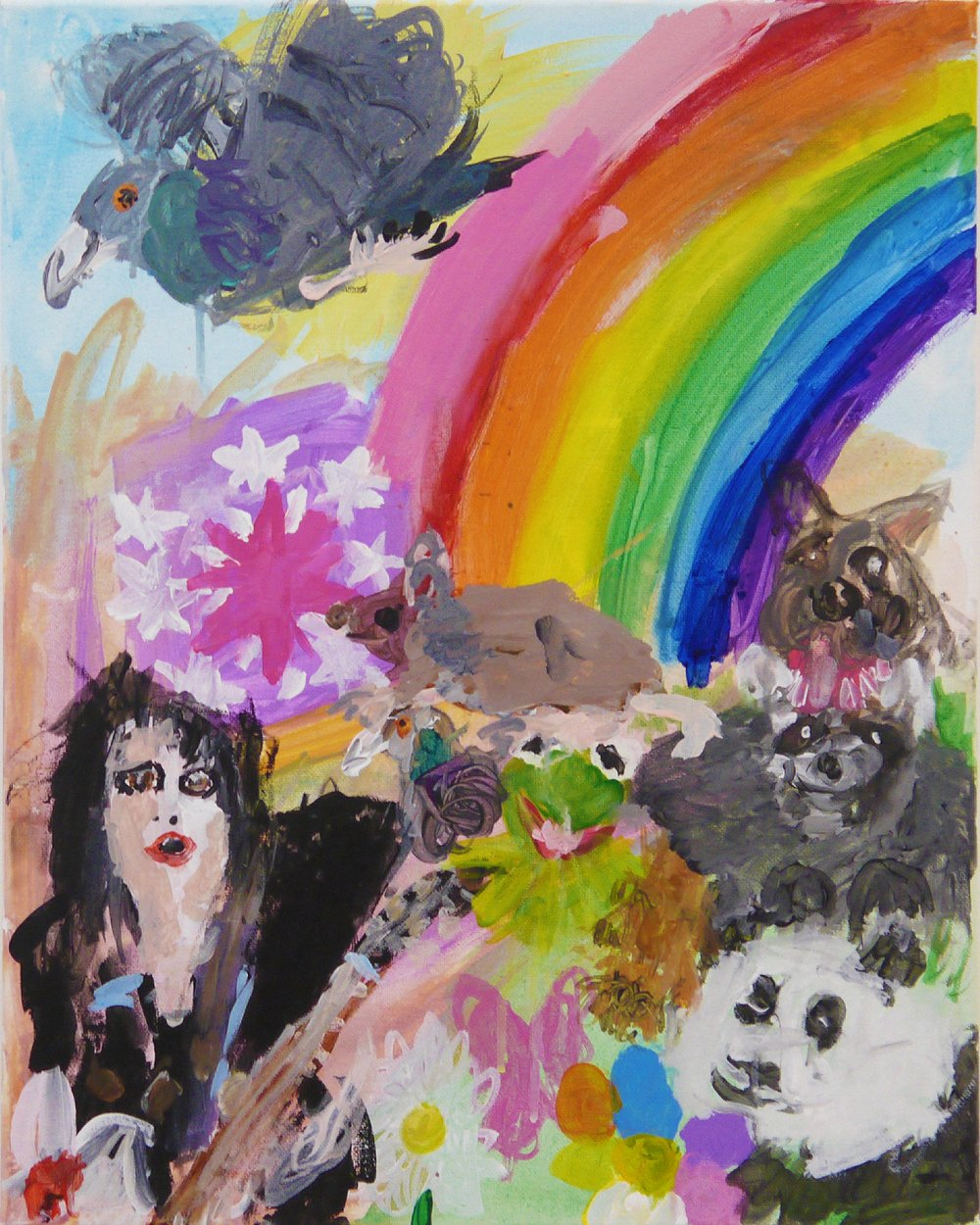 Joan Jett Makes a Rainbow - acrylic on canvas - 2018.jpg