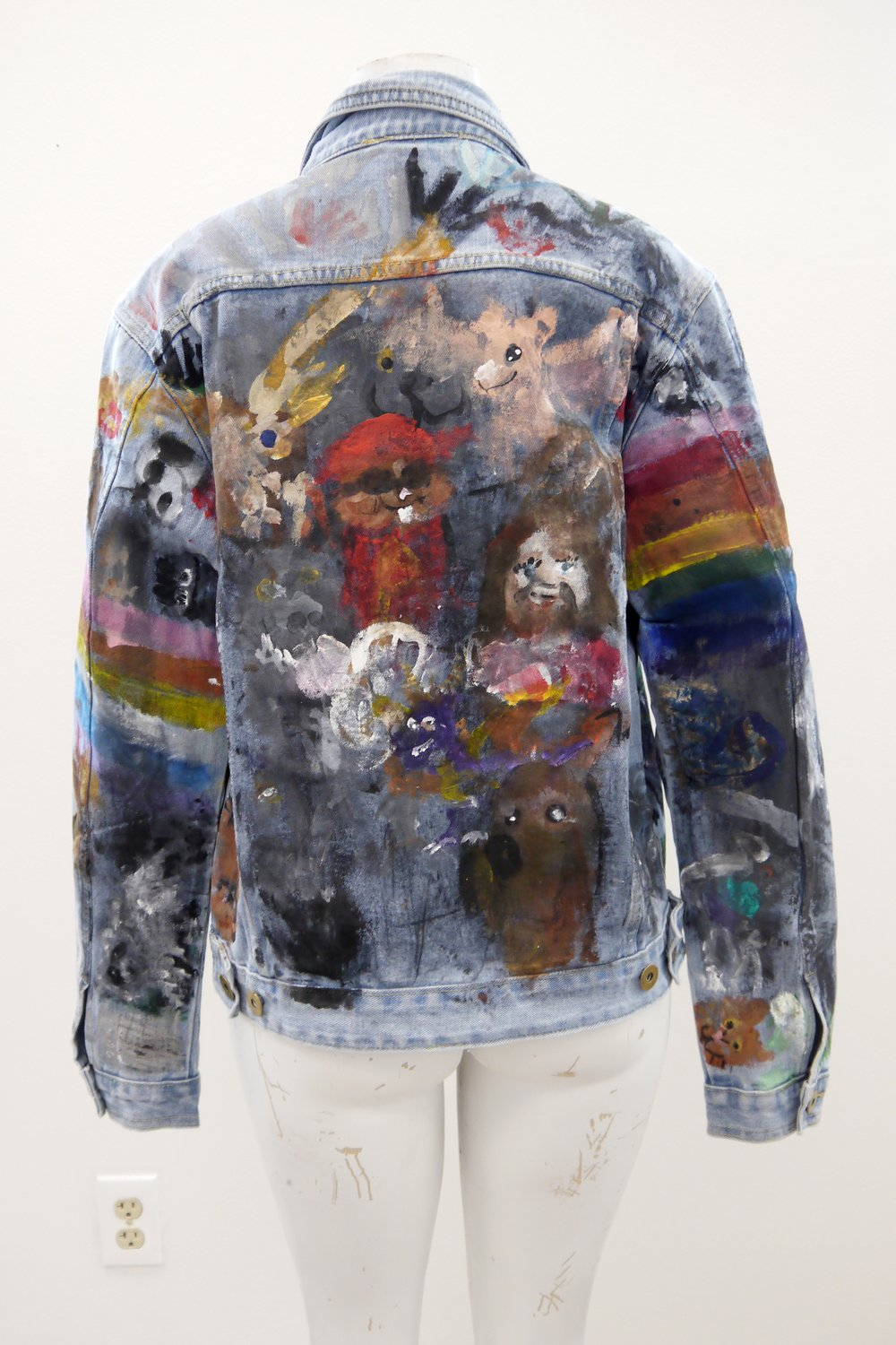 (SOLD) A Cool Jacket (back) - acrylic on jean jacket - 2018.jpg