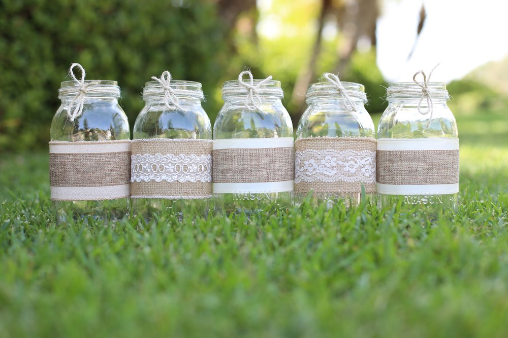 Wedding Idea's - Contact us for custom work! Starting at $12.99 per mason jar. BULK PRICING AVAILABLE on 10+ jars.