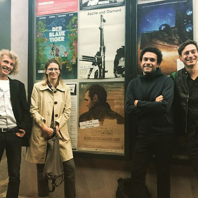 Last night in #karlsruhe we were hosted by the wonderful @kinemathek 🎥 tamer was there for a q+a and it was super interesting to hear the stories of the people that came. Thank you for having us in Karlsruhe. In the photo: Christine Reeh, Jens Geiger and the programmers of Kinemathek. #kino #karlsruhe #cinema #cinelove #thankyou ❤️