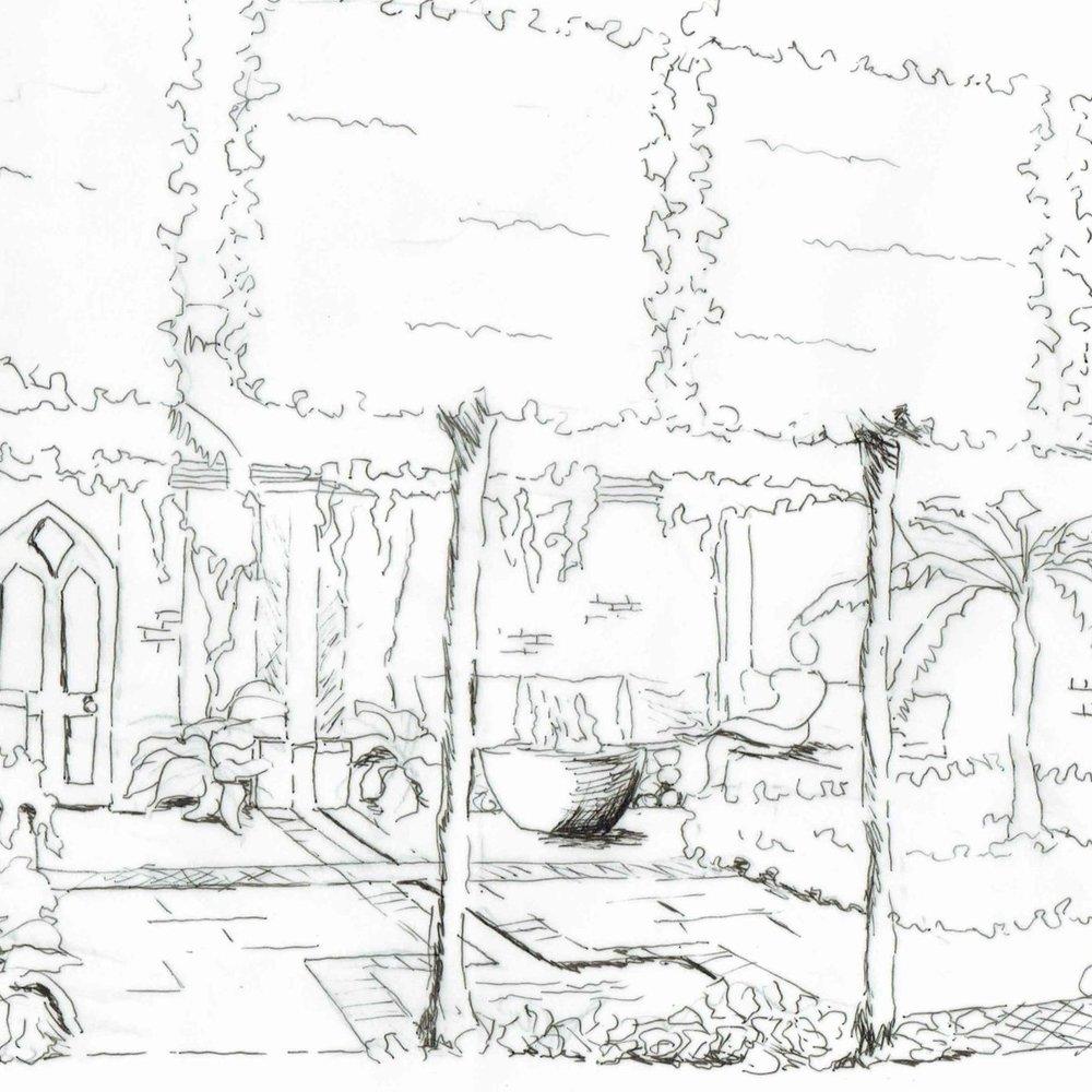 courtyard garden -