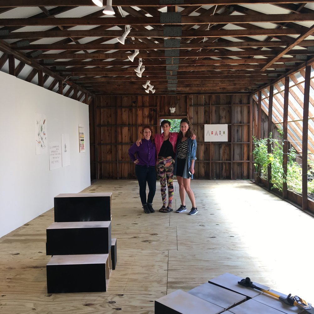 2017 STONELEAF Residency artists, Macon Reed, Leah Dixon and Mia Taylor (from left to right)