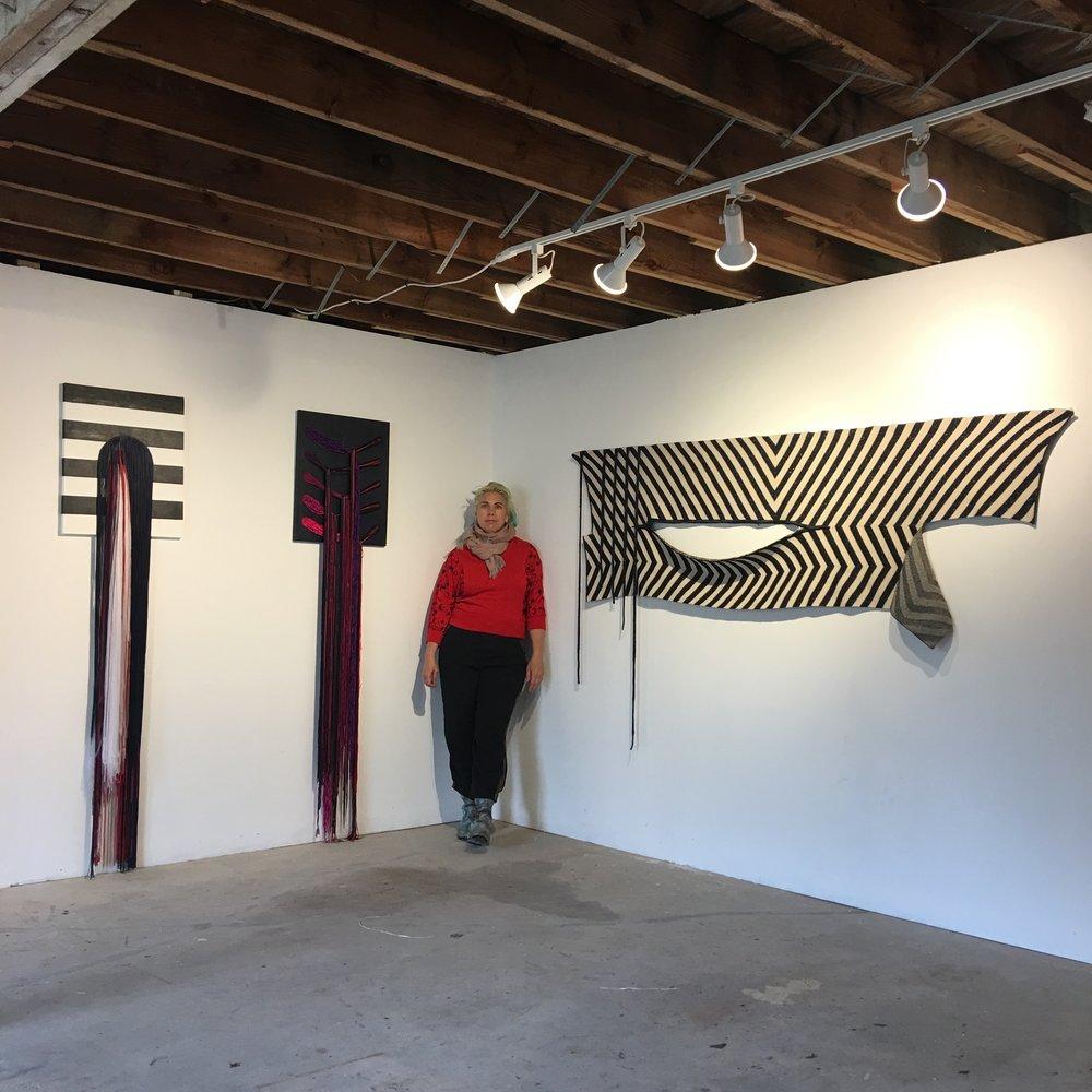 Liz Collins in her studio