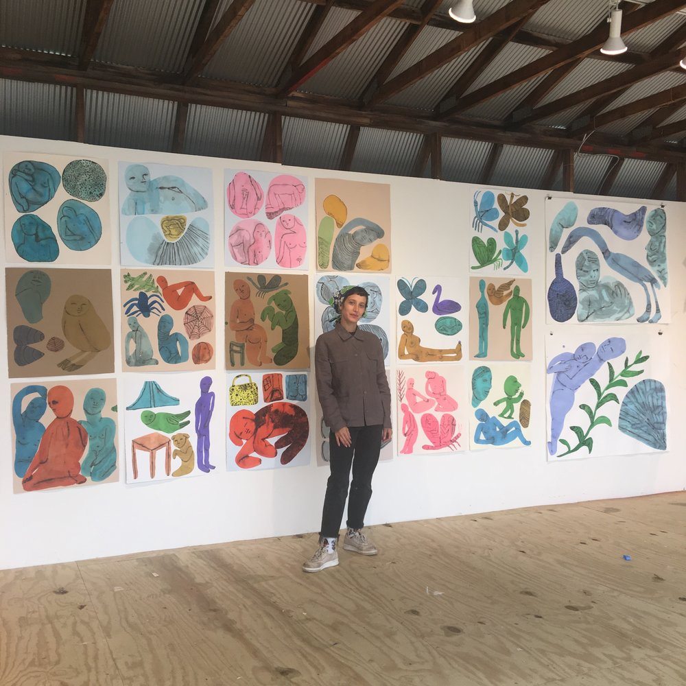 Emma Kohlmann in her studio