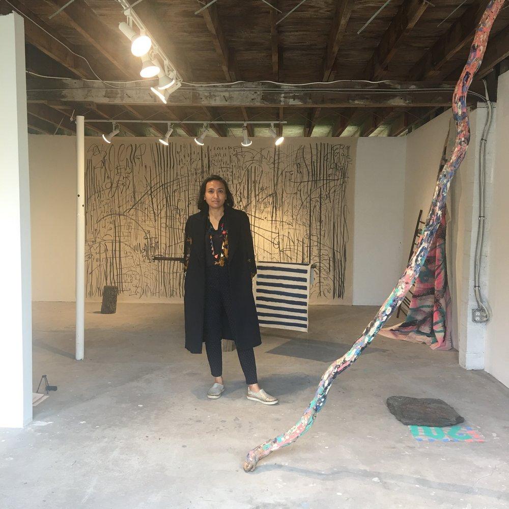 Sinta Tantra in her studio