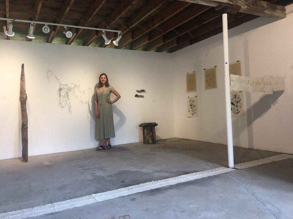 Rena Detrixhe in her studio