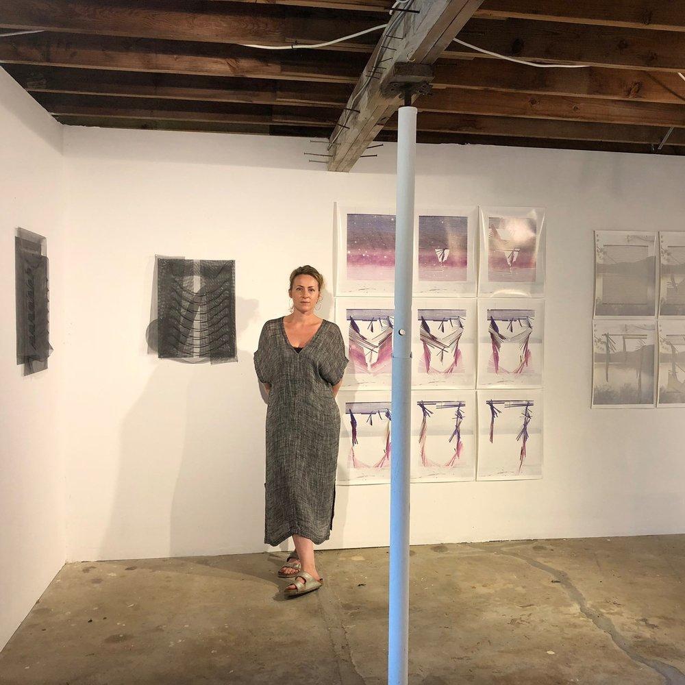 Rebecca Reeve in her studio