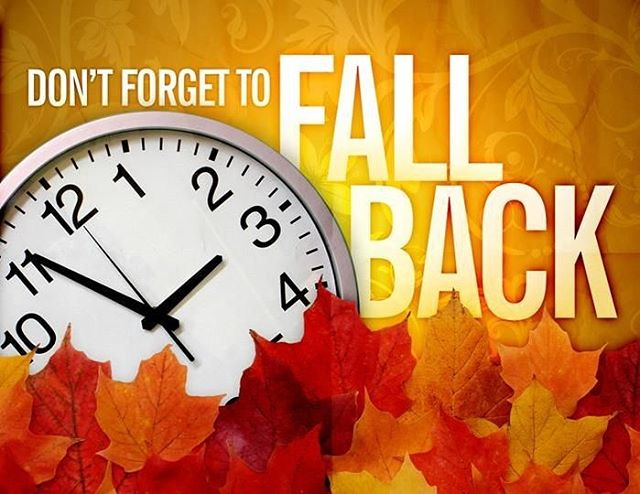 Don't forget to set your clocks back one hour before bedtime tonight! #DaylightSavings #FallBack