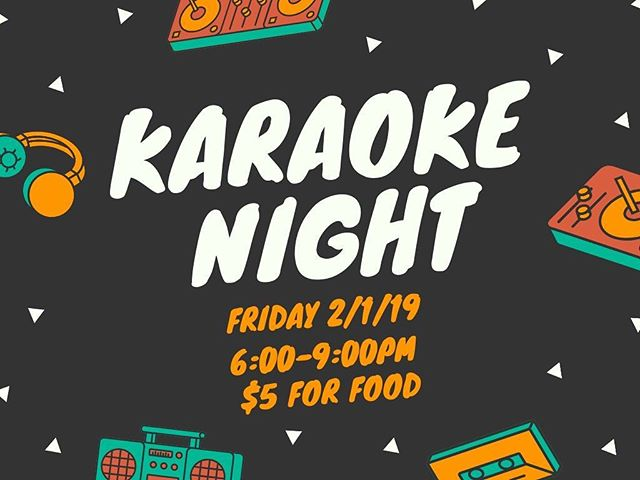 KARAOKE NIGHT!  Tonight is our first Student Ministry Hangout! Bring $5 if you want dinner and cruise on over to the Landing for some sick beats!