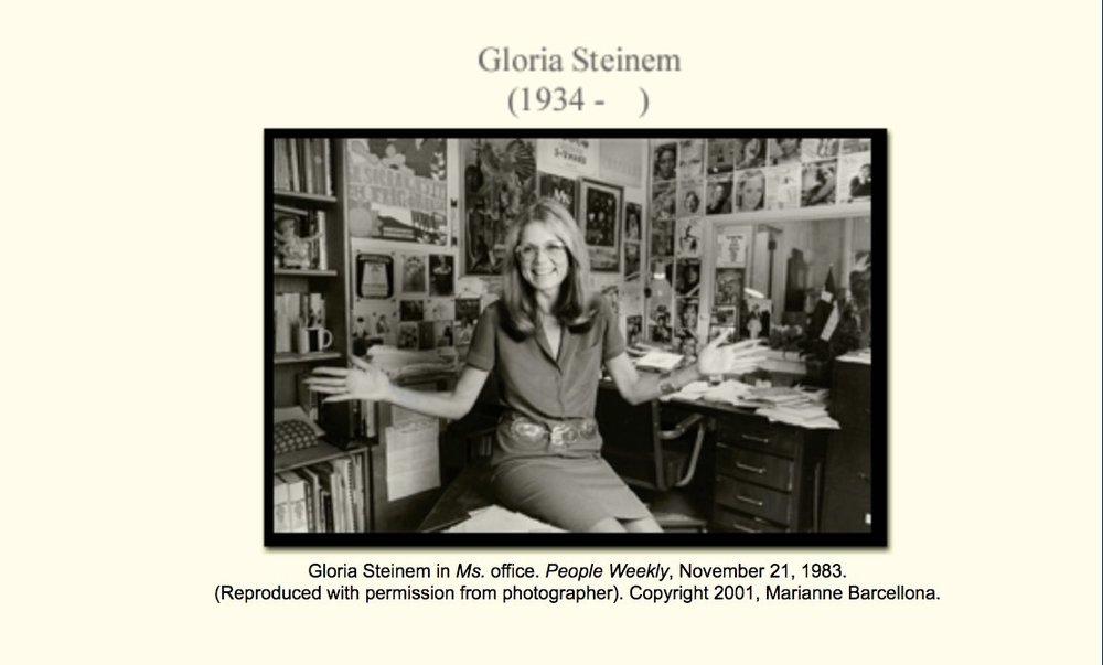 Gloria Steinem par Marianne Barcellonna