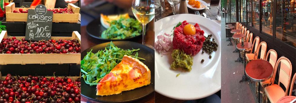 La Grand epicerie, quiche lorraine, steak tartare e o esporte nacional dos parisienses
