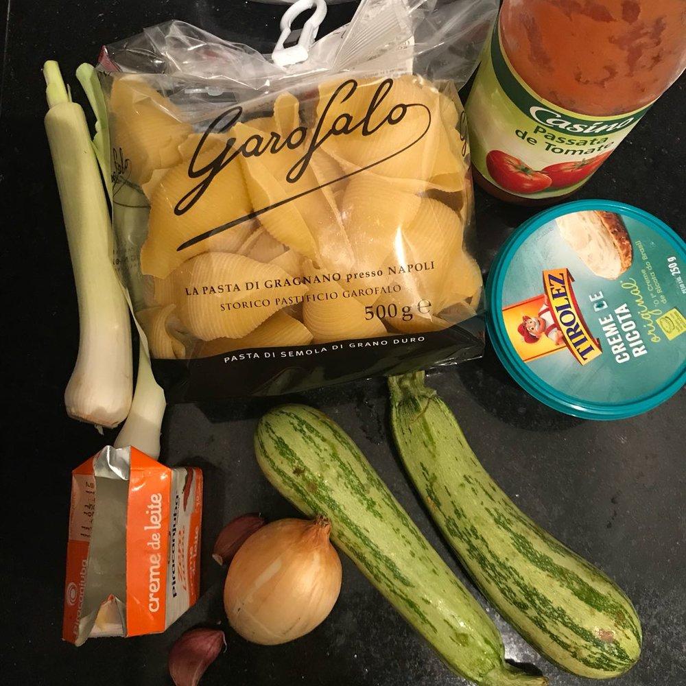 ingredientes, antes de começar o preparo