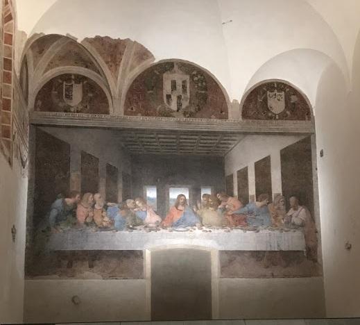 """""""A Última ceia""""-  Chiesa di Santa maria della grazie  - acervo pessoal"""