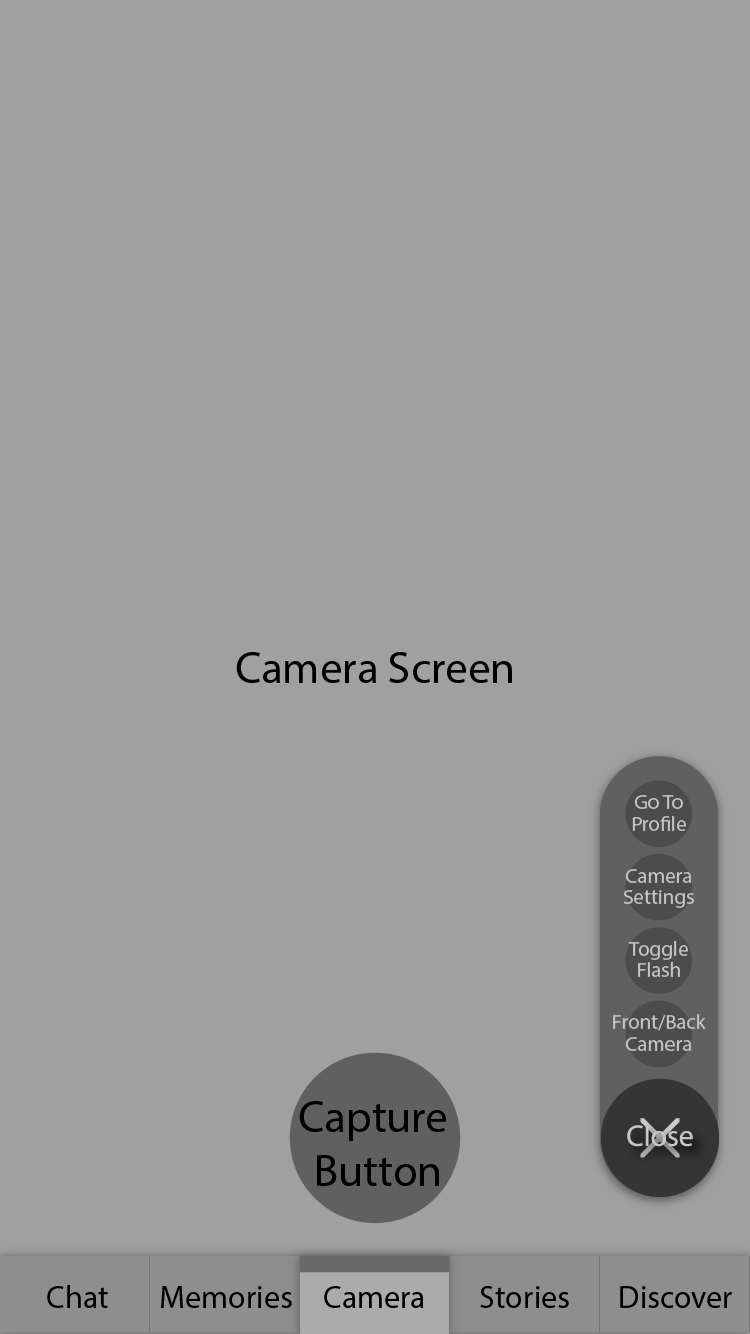 Camera Screen Options Opened