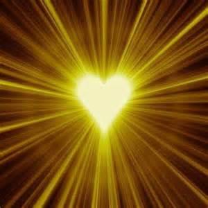 medium gold heart