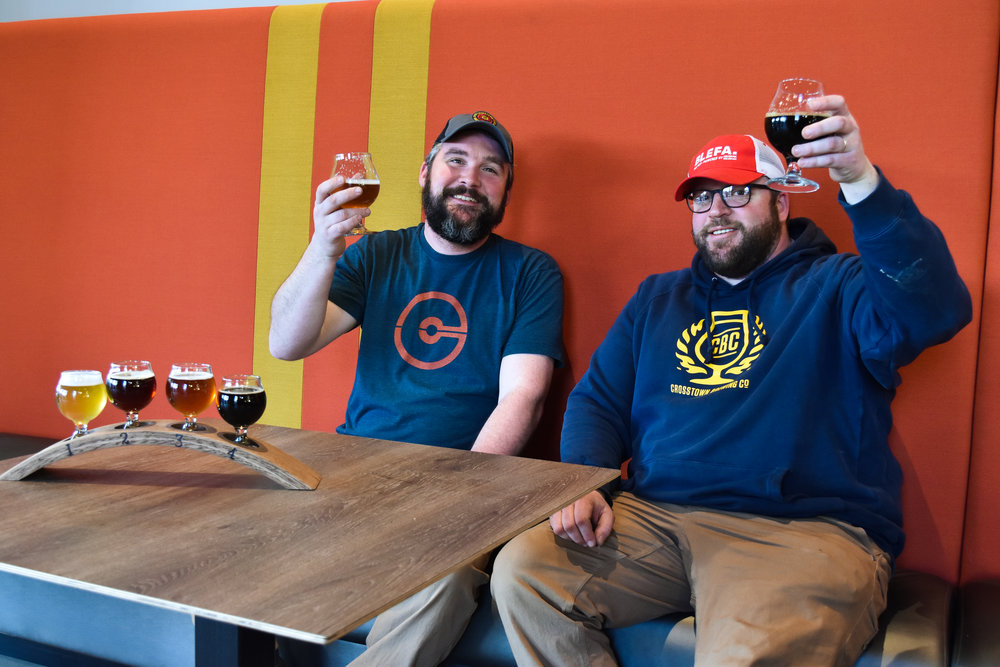 Will Goodwin & Clark Ortkiese / CROSSTOWN BREwing co.,OWNERS & craftsmen