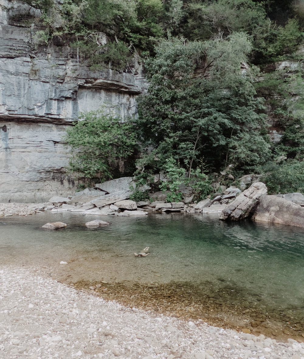 We found this most amazing swimming hole behind our campsite. The water was so, so gorgeous.