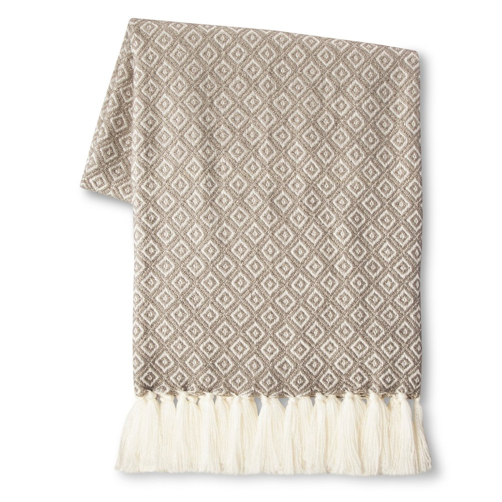 If I am home during Fall-Winter you can bet I have a blanket on. Growing up we always have an armoire full of blankets and I have followed that trend, with throws in every room.  Threshold  by Target always has the cutest blankets!
