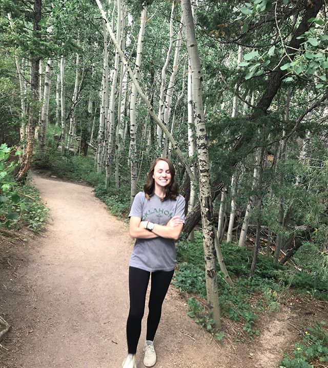 Awkward candid taken by Austin that somehow accurately describes how I feel about being surrounded by Aspen trees 🌲 • #colorado #rmnp #rockymountainnationalpark #hike