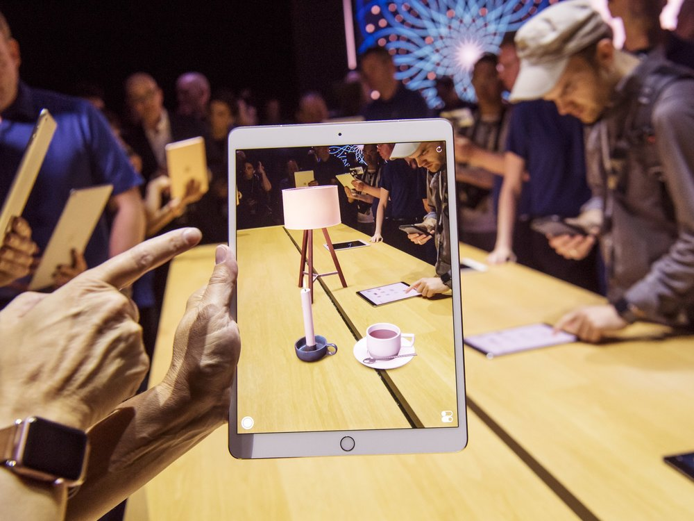 Immersive Augement reality experience in an iPad.  Courtesy: Wired