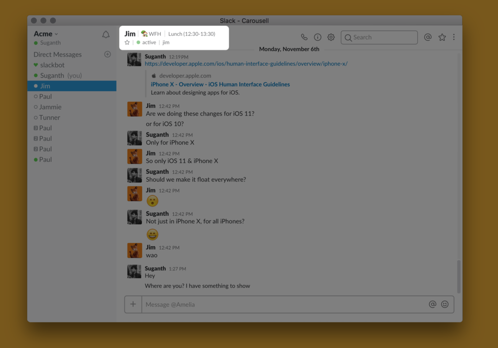 Incase if Slack status is present, Calendar events can append?
