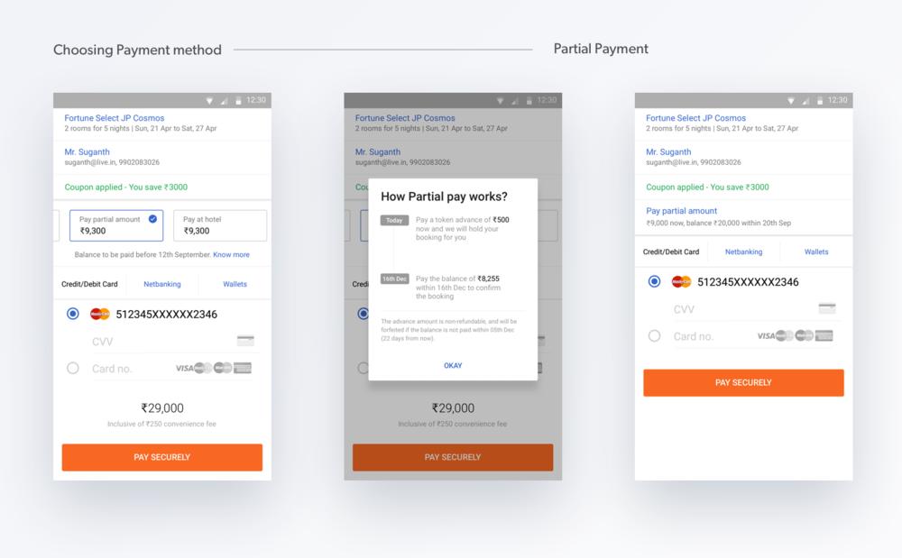 Partial Payment Flow
