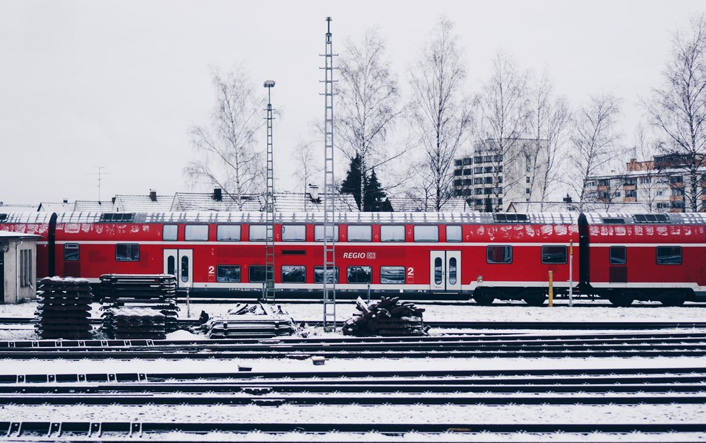 Cold snowy DB near Munich HBF