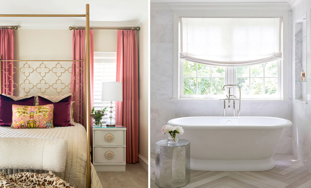 Left: Interior design by Andrea Brooks, photographed by Nancy Nolan.