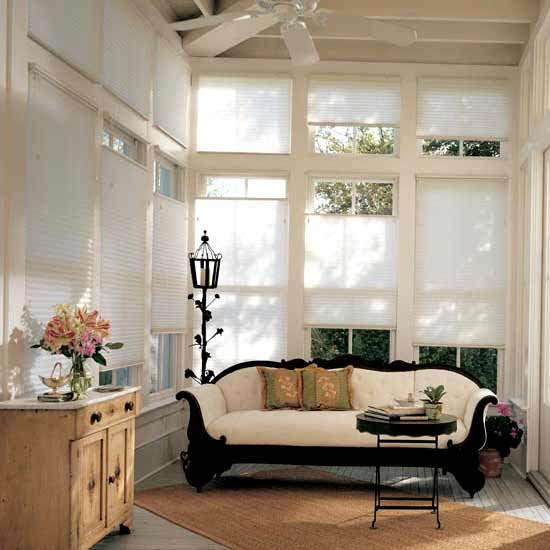 Lauras Draperies and Blinds Little Rock Arkansas Silhouettes Shades Custom Bedding Curtains honeycomb shades 1.jpg