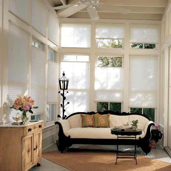 Lauras Draperies and Blinds Little Rock Arkansas Silhouettes Shades Custom Bedding Curtains honeycomb shades 1.jpg