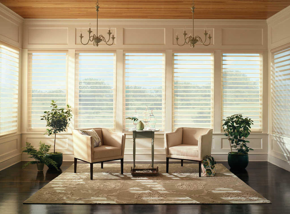 Lauras Draperies and Blinds Little Rock Arkansas Silhouettes Shades Custom Bedding Curtains.jpg