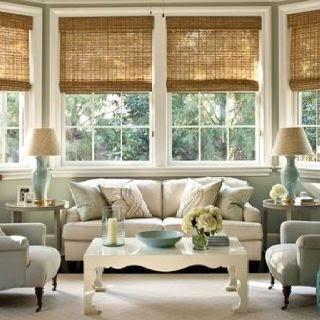 Lauras Draperies and Blinds Little Rock Arkansas Silhouettes Shades Custom Bedding Curtains woven wood shades 3.jpg