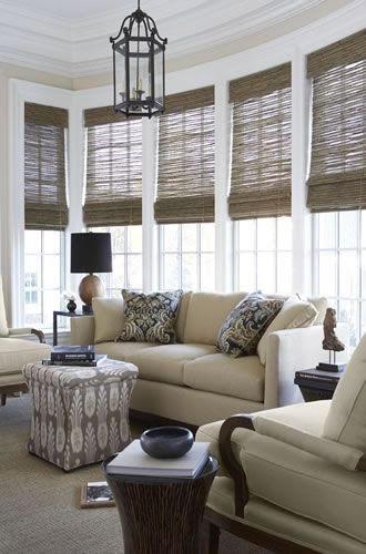 Lauras Draperies and Blinds Little Rock Arkansas Silhouettes Shades Custom Bedding Curtains woven wood shades 6.jpg