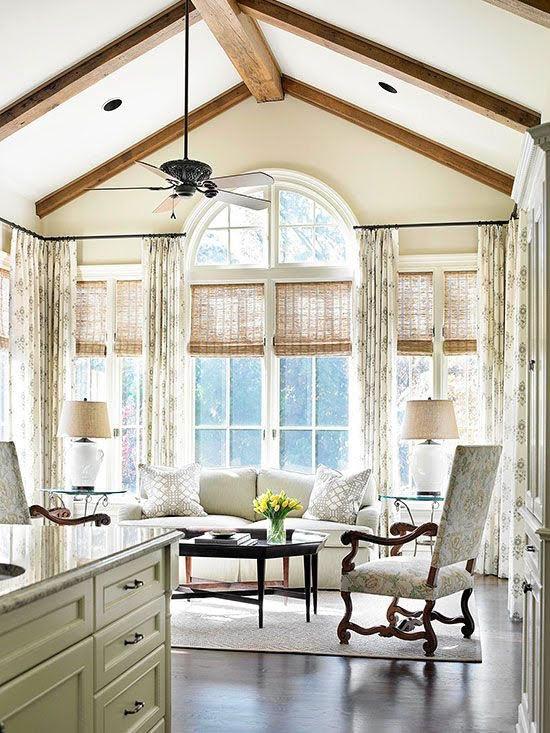 Lauras Draperies and Blinds Little Rock Arkansas Silhouettes Shades Custom Bedding Curtains woven wood shades.jpg