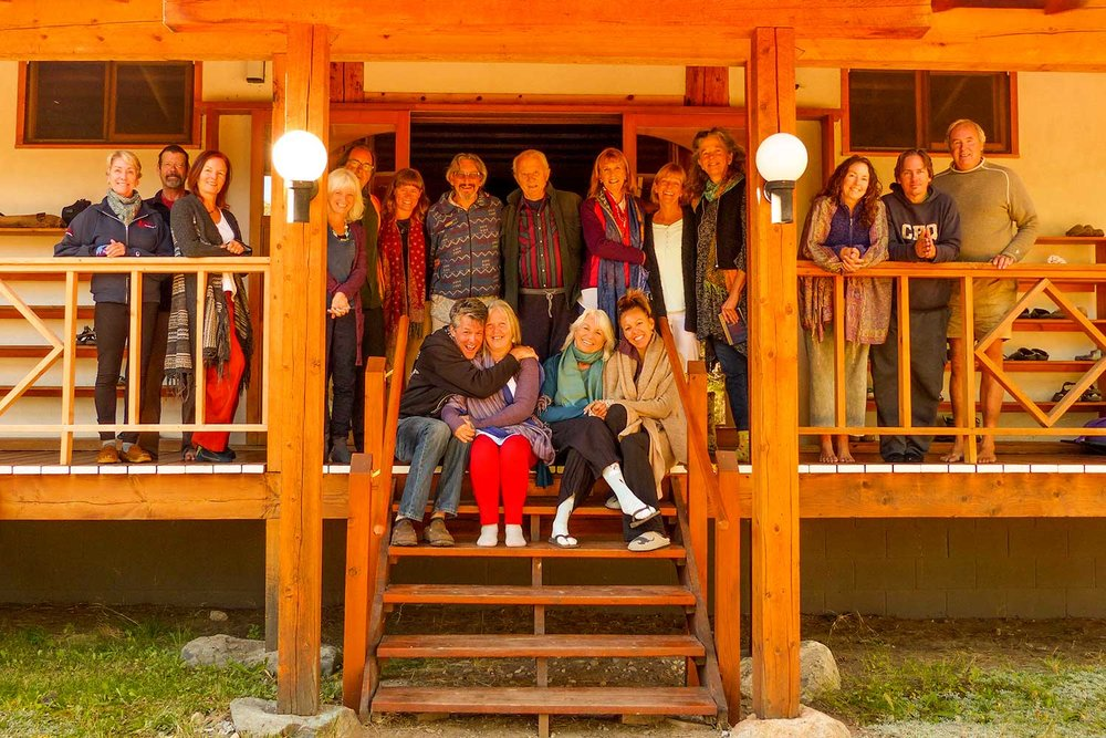 Clear Light Sangha members on retreat with Sharon Landrith, Crestone, CO, USA Photo Paul Kemnitzer