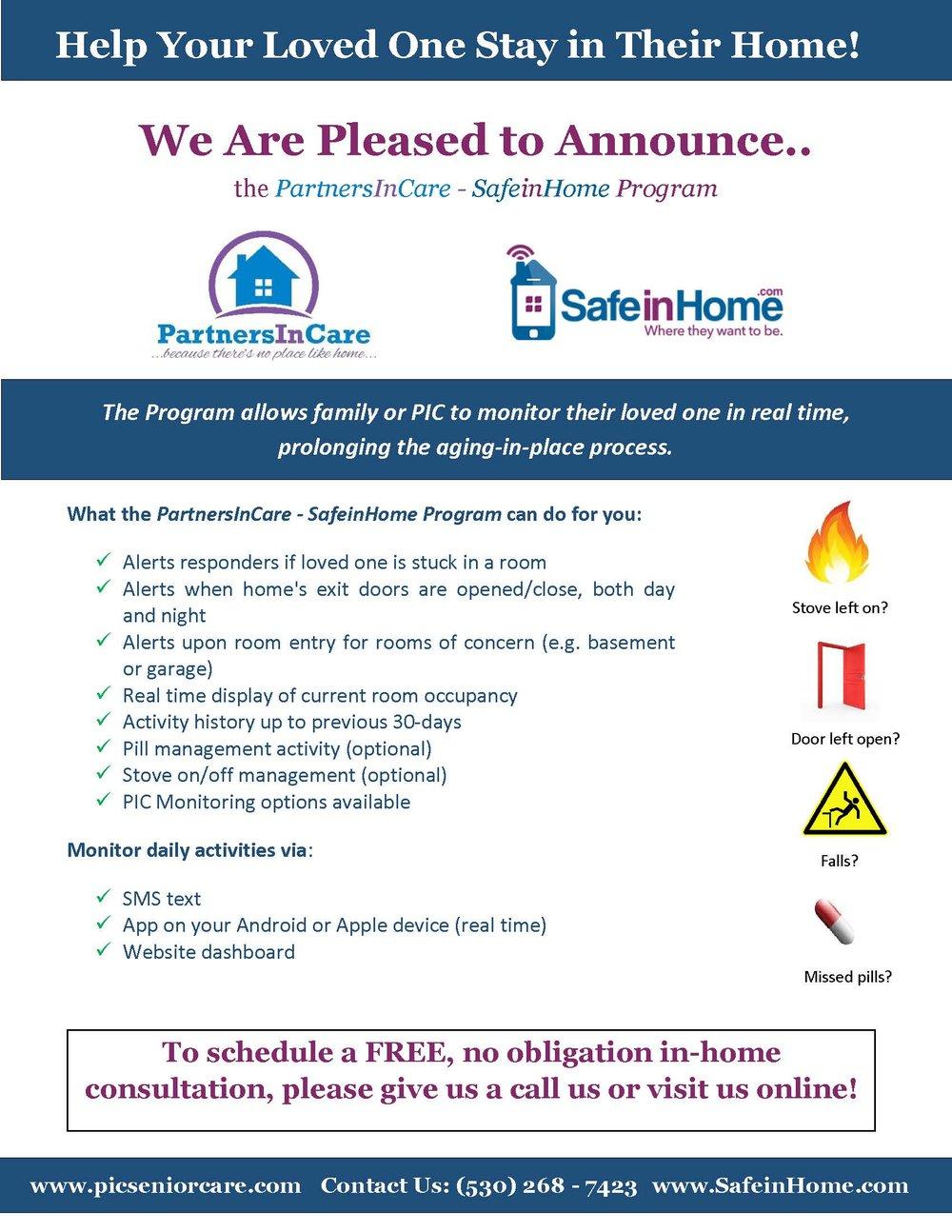 SafeInHome flyer
