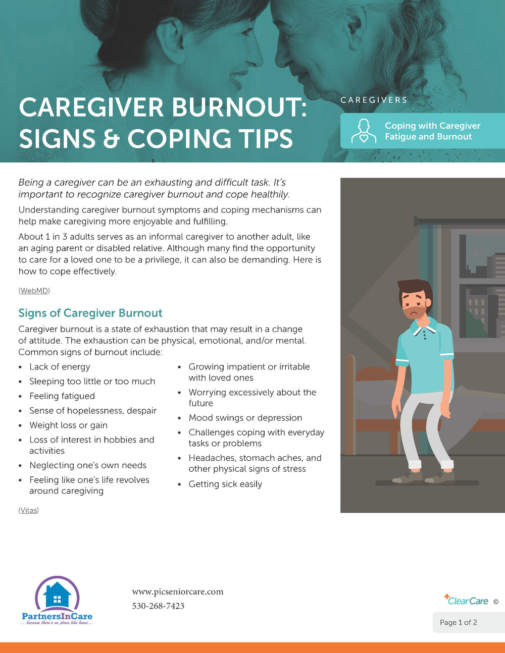 Caregiver Burnout: Signs & Coping Tips page 1