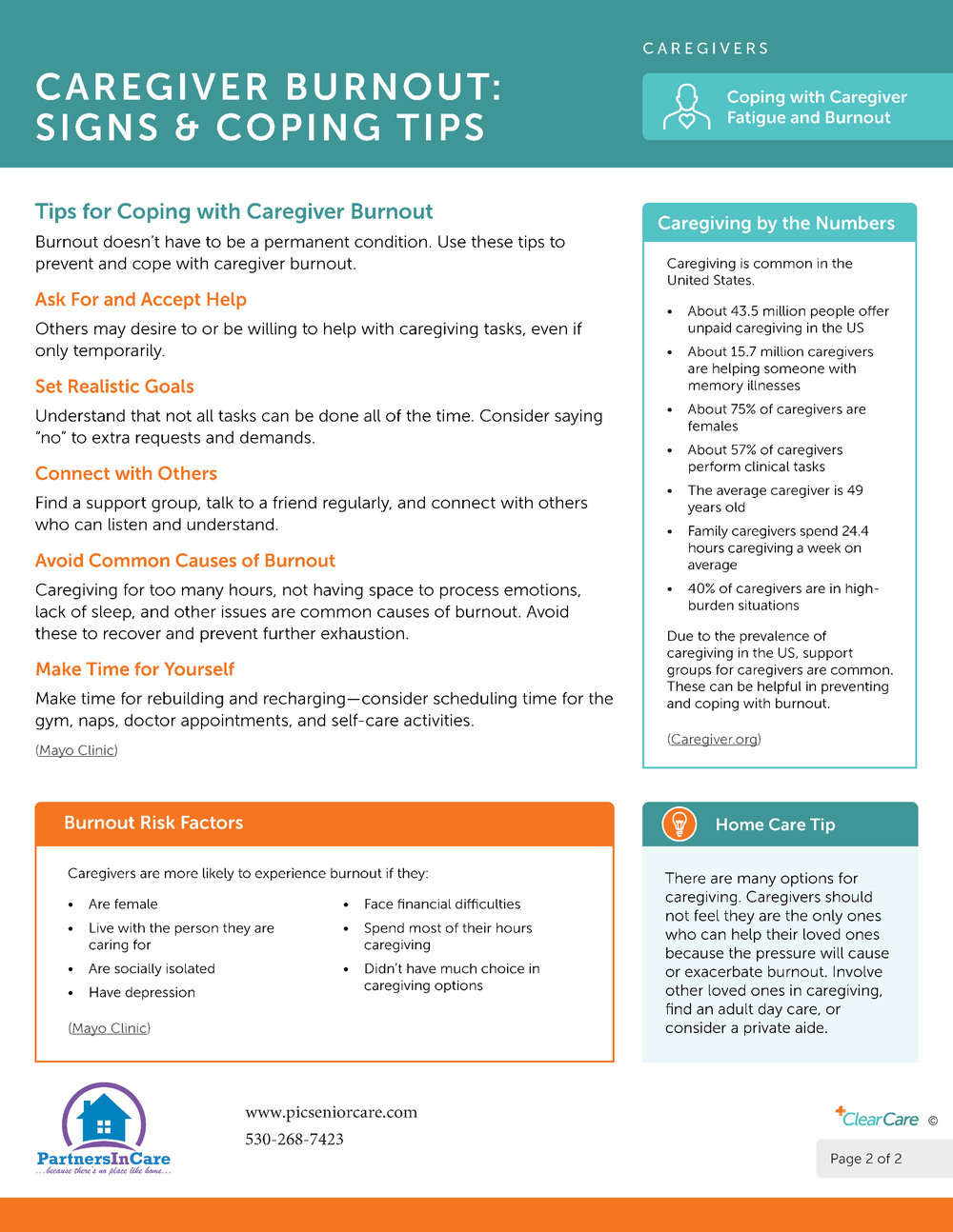 Caregiver Burnout: Signs & Coping Tips page 2