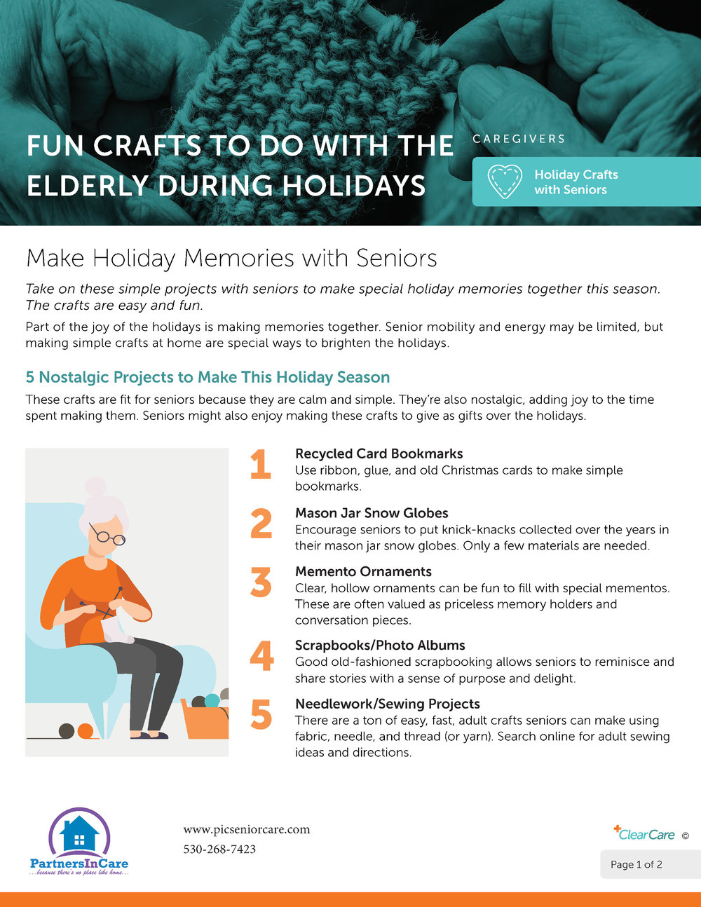 Fun Crafts To Do With The Elderly During Holidays page 1