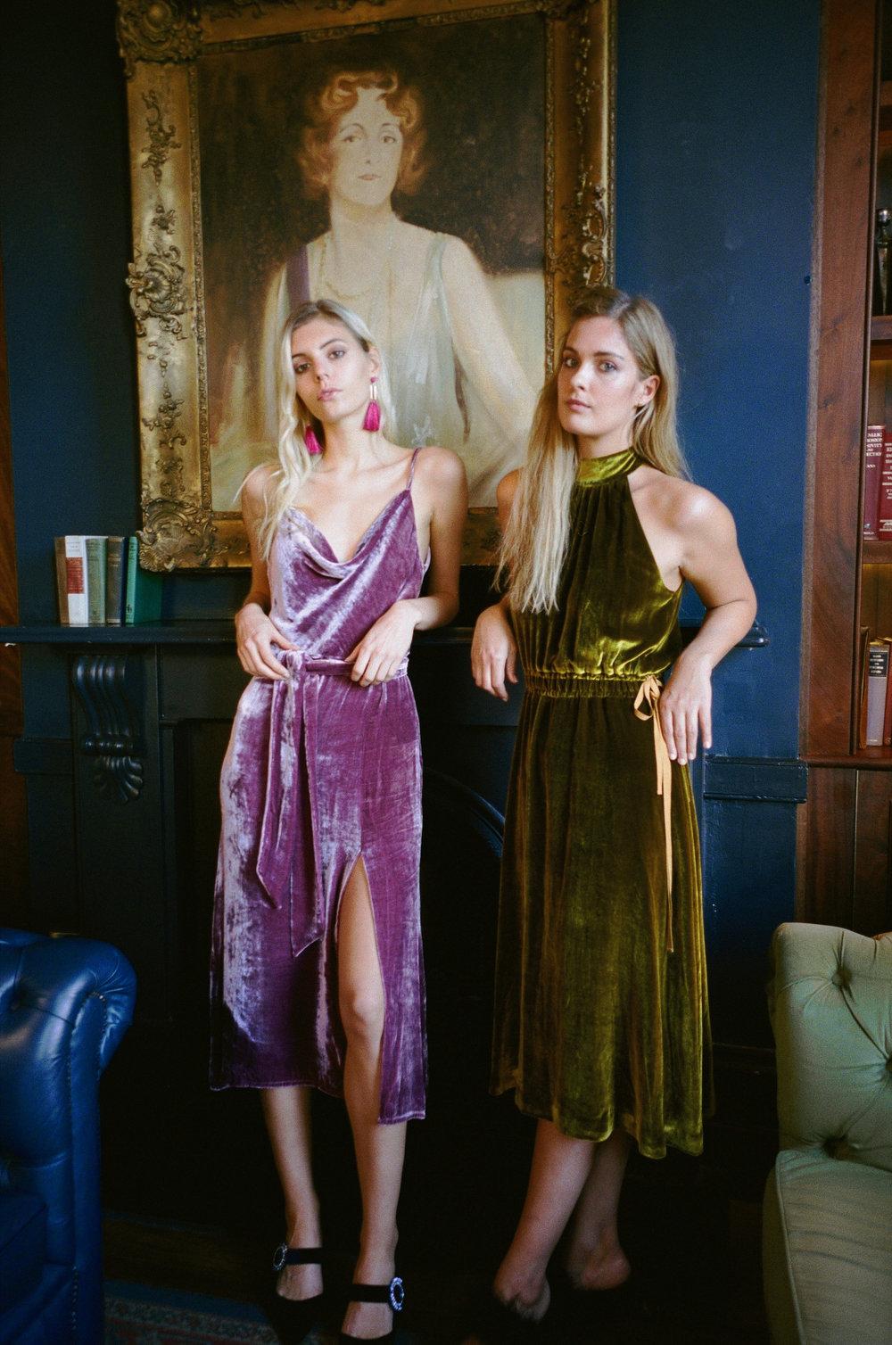 Eden Silk Velvet Dress  Eva Silk Velvet Dress