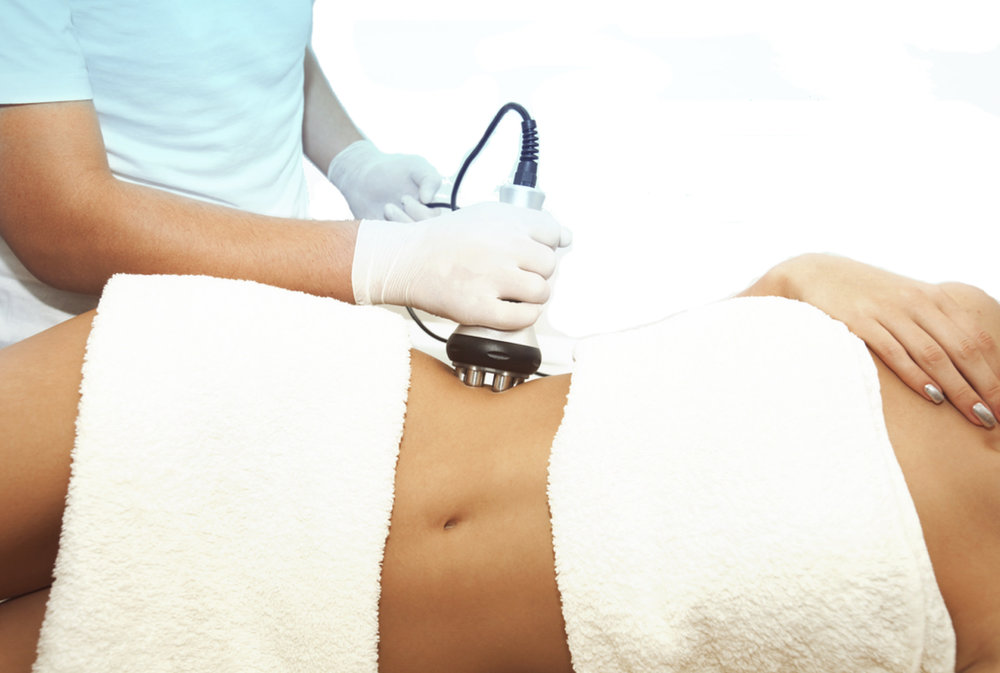 Ultrasound waves melt fat away forever.
