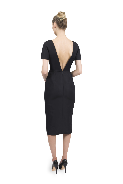 c23e7fb5b26ea8 Vintage V-Back Dress with Belt and Circle Skirt — Catherine Regehr