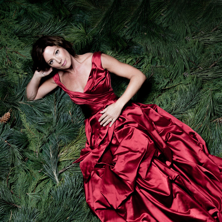 Sarah McLachlan2015 ChristmasPhoto Shoot - Featuring Sarah McLachlan in the Lucien Gown