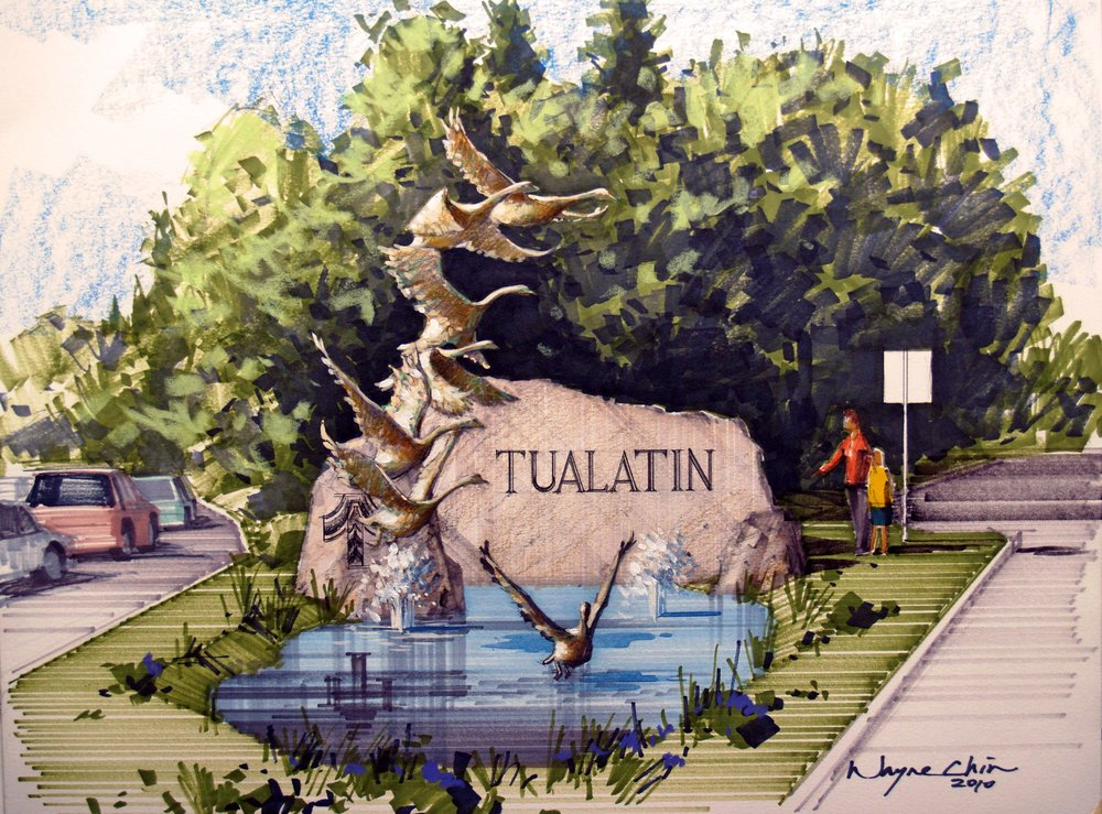 City of Tualatin Entry Monument